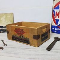 Dunlop Box Vintage Wooden Spares Crate